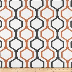 RCA Geometric Sheers Urban Orange/Grey Fabric