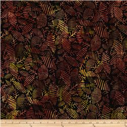 "Timeless Treasures 106"" Batik Quilt Back Textured Leaves Forest"