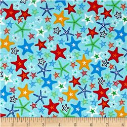 Fun At The Beach Stars Turquoise