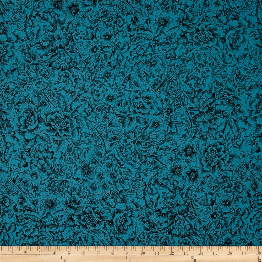 Corsica Floral Teal