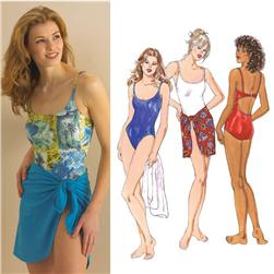Kwik Sew Racer Back Swimsuit & Wrap Pattern