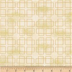 Oriental Traditions Metallic Plaid Ivory