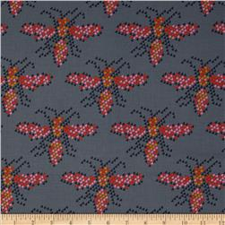 Cotton & Steel Mustang Heart Bees Grey Fabric