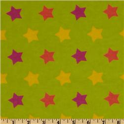 Flannel Tossed Stars Green/Multi