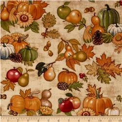 Shades of Autumn Gourds Cream