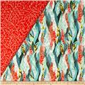Dryad Double Sided Quilted Green/Coral