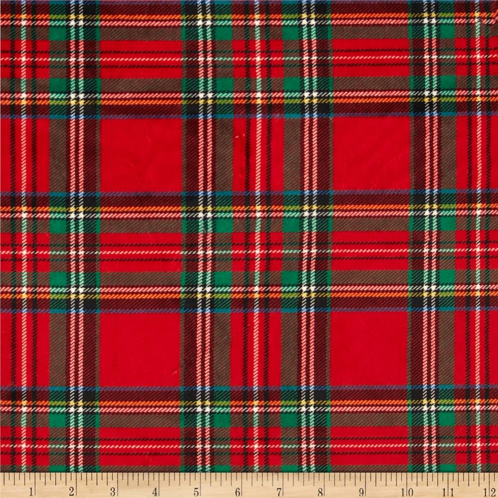 Minky Classic Plaid Red
