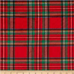 Minky Classic Plaid Red Fabric