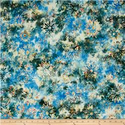 Timeless Treasures Tonga Batiks Lakeshore Snowflake Mix Mystic