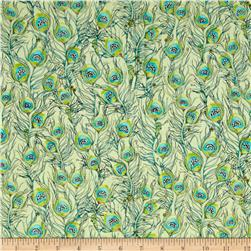 Pretty As A Peacock Feathers Light Green