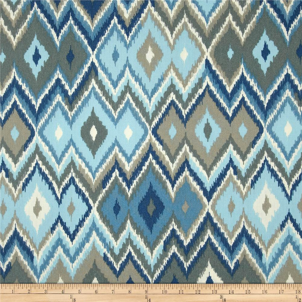 Swavelle mill creek indoor outdoor marva blue lake for Outdoor fabric