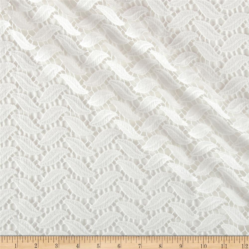 Technical Cotton Lace Ivory Fabric
