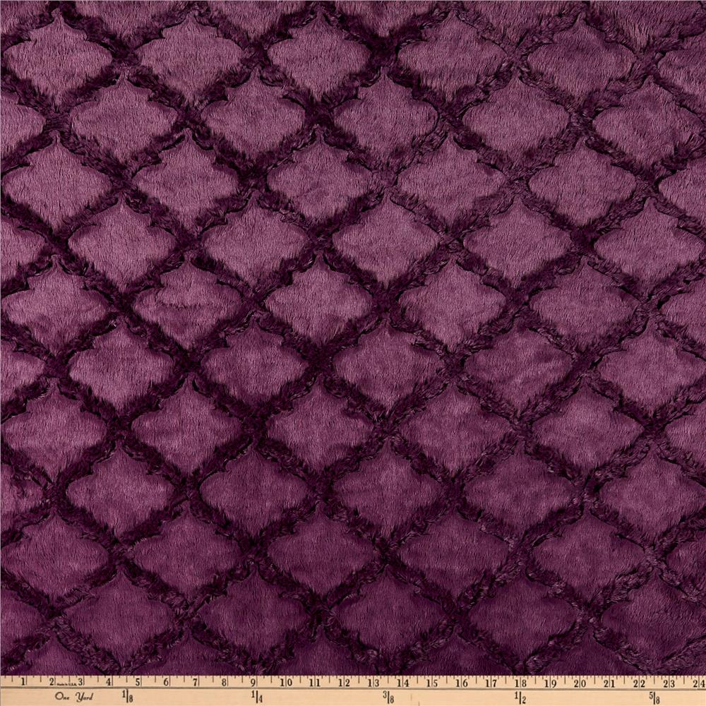 Shannon Minky Luxe Cuddle Lattice Plum