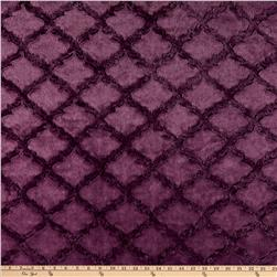 Minky Soft Lattice Cuddle Plum Fabric