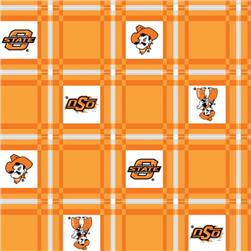 Collegiate Tailgate Vinyl Tablecloth Oklahoma State University Orange/Black