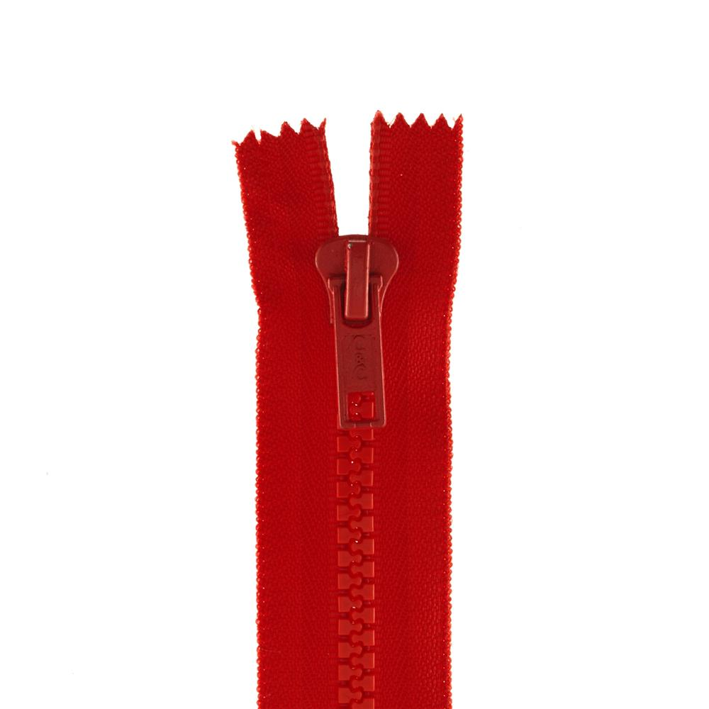 "Coats & Clark Closed Bottom Molded Zipper 5"" Atom Red"