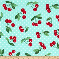 Michael Miller Cherry Dot Mint Fabric