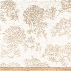 Pastoral Toile Ivory/Tan Fabric
