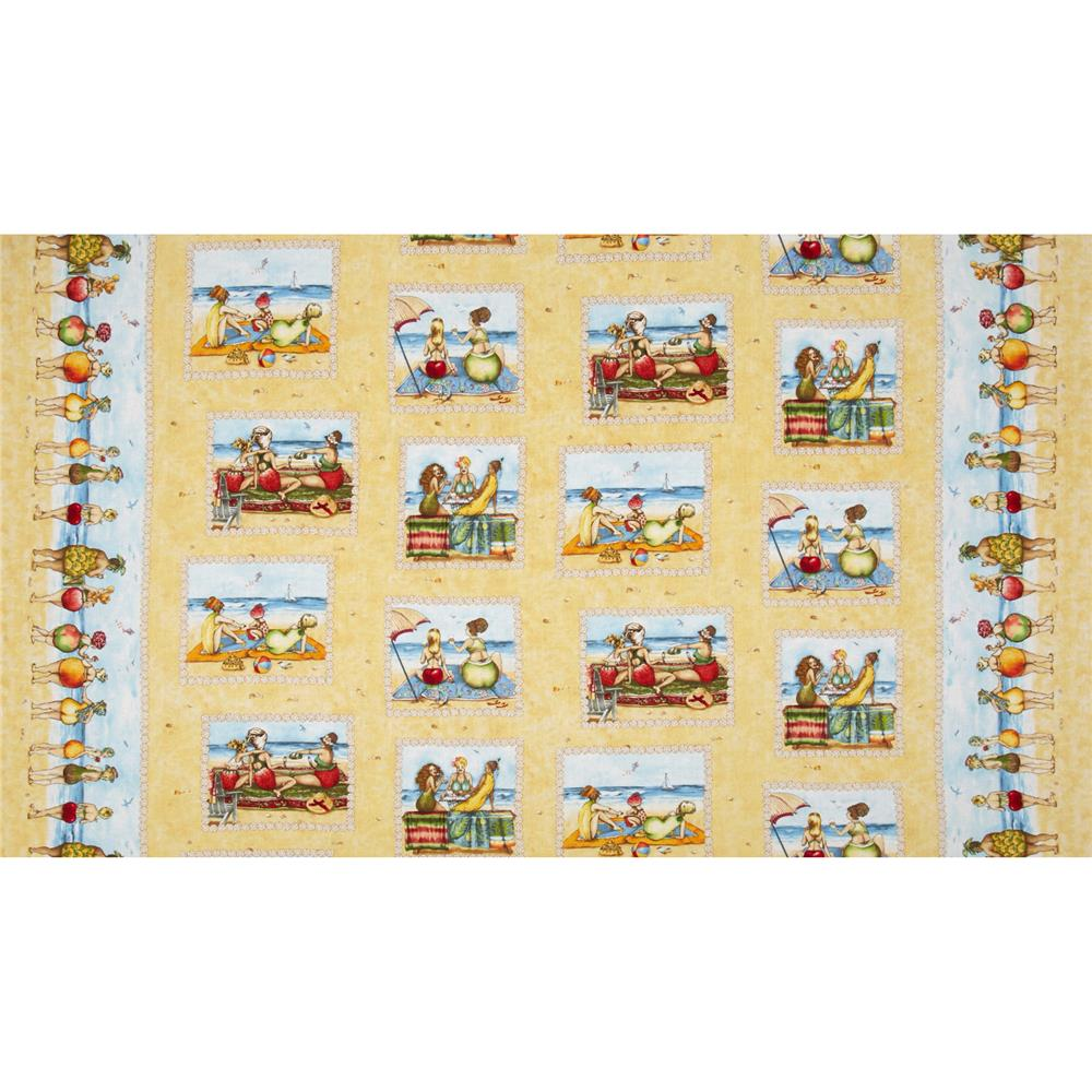 Fruit Ladies Patchwork Border Sand