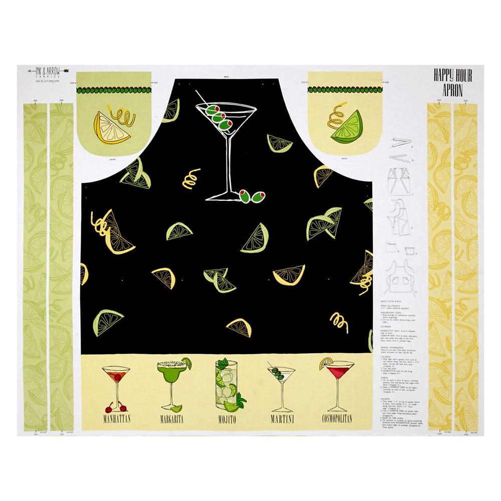 "Happy Hour 36"" Apron Panel Black"