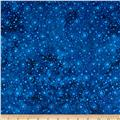"108"" Wide Essentials Quilt Backing Dot Burst Blue"