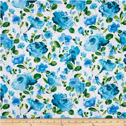 Ambrosia Toss Floral White Fabric