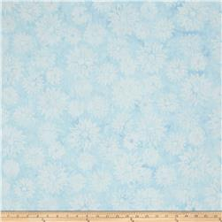 Timeless Treasures Tonga Batiks Petals SnowFlake Mix Sky