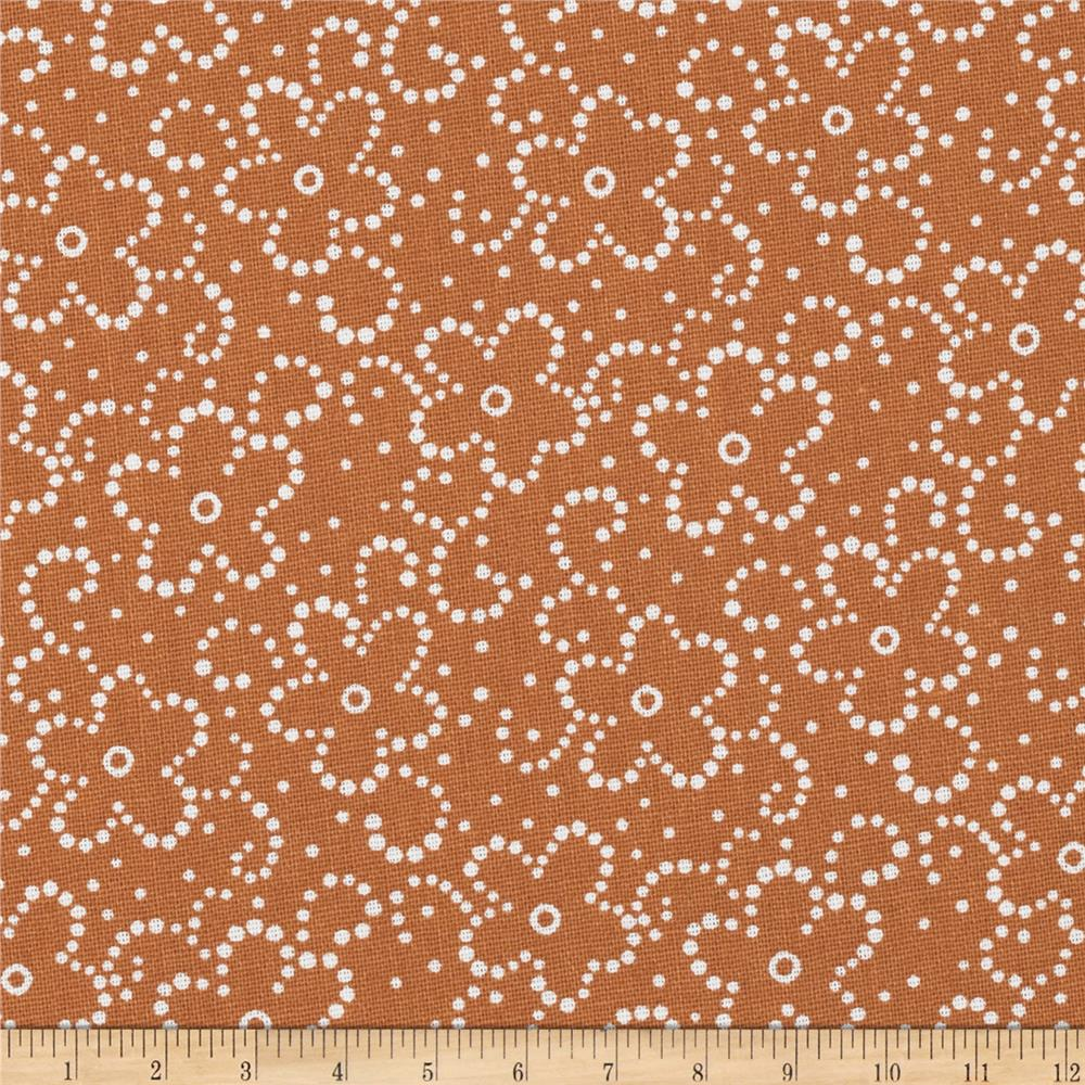 Daisy Floral Rust/White