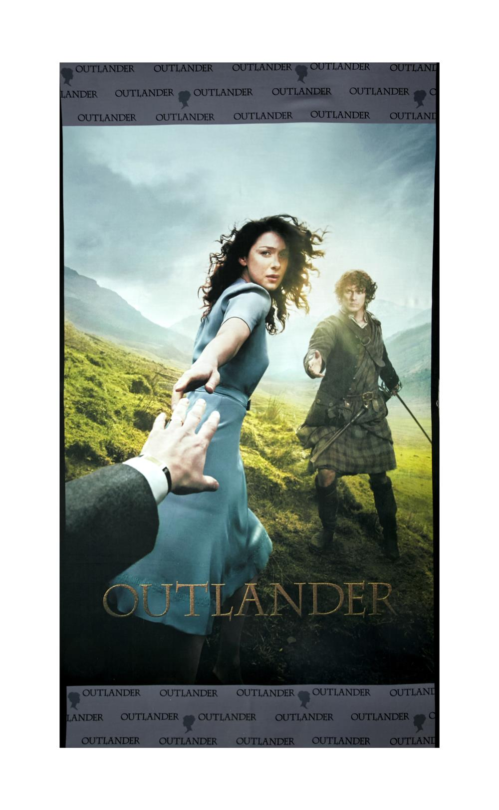 Outlander Between Time Digital 24'' Panel Gray Fabric