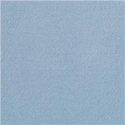 Cotton Poly Terry Velour Powder Blue