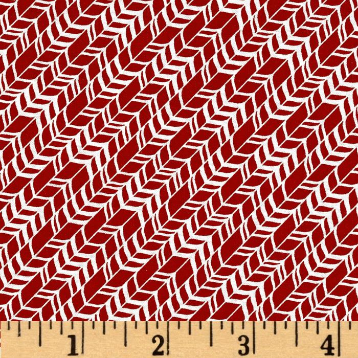 Oh So Jolly Diagonal Candy Stripe Red