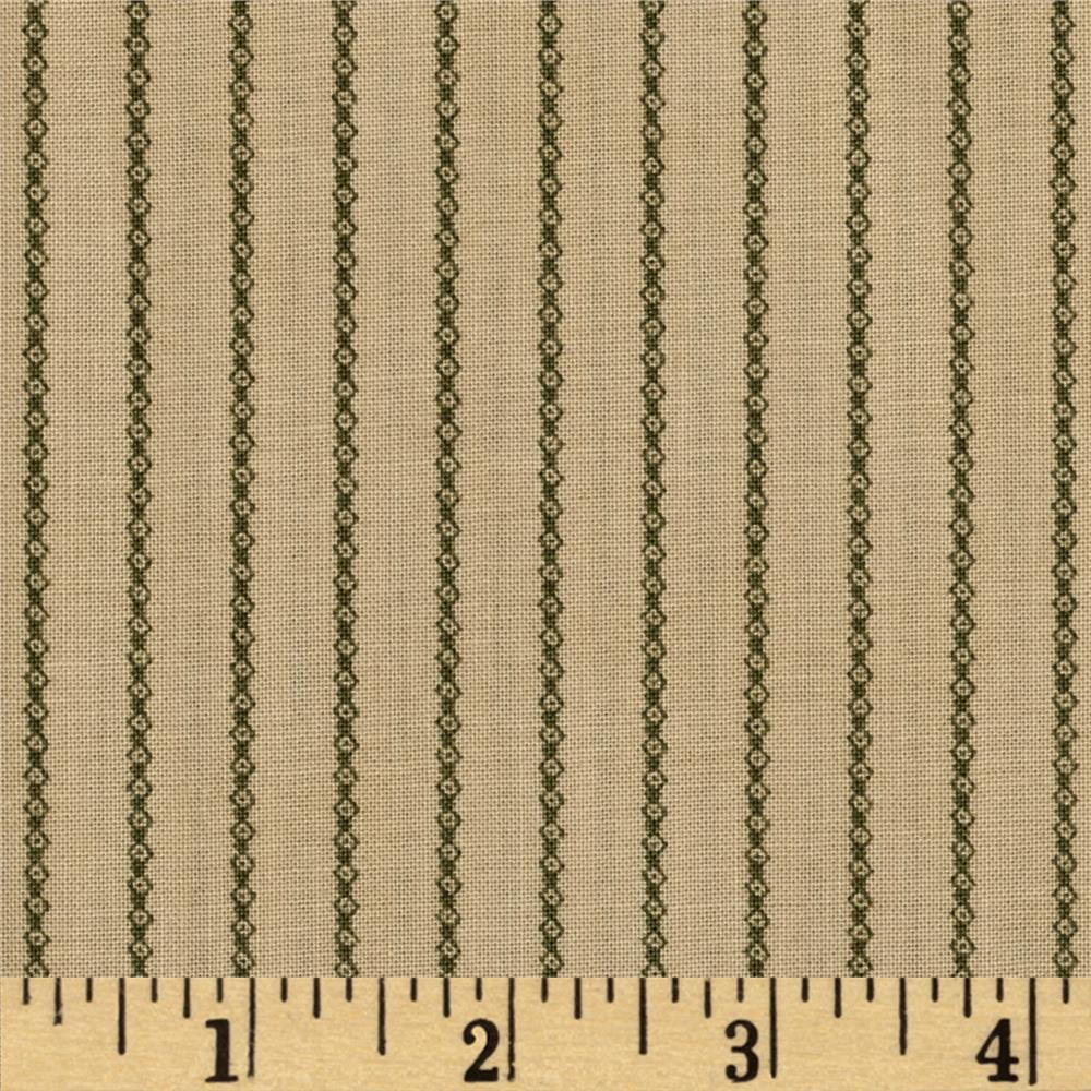 Moda Under the Mistletoe Garland Stripe Linen/Mistletoe