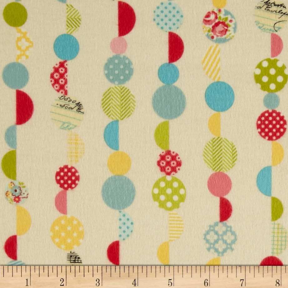 Riley Blake Sidewalks Flannel Marbles Cream Fabric