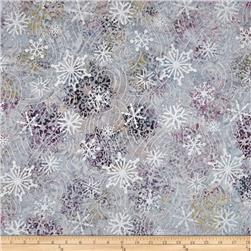Robert Kaufman Artisan Batiks Metallic Noel Large Flakes Medallion Jewel