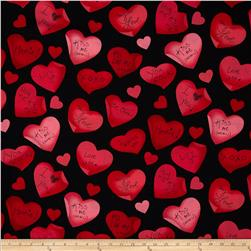Kanvas Love is All Around Love Notes Black/Red