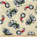 Green Mountain Farm Tossed Tractors Ivory