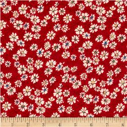 Summer Days Daisies Red