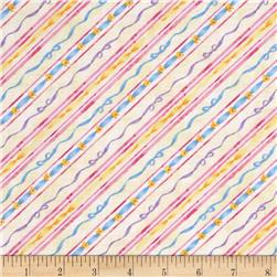 Kid's Corner Decorative Diagonal Stripe White/Multi