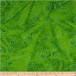 Indian Batik Hollow Ridge Floral Lime