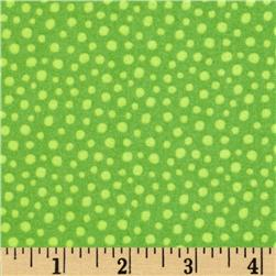 Into the Woods Flannel Dot Green