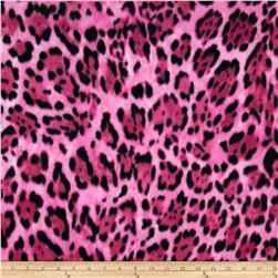 Winter Fleece Wild Leopard Pink