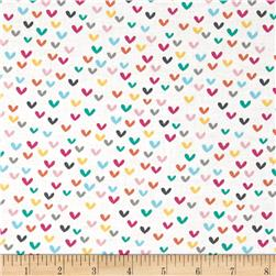 Timeless Treasures Mini Hearts White