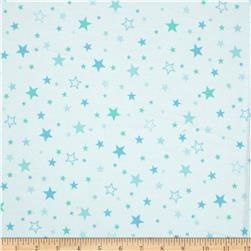Robert Kaufman Cozy Cotton Flannel Stars Marine