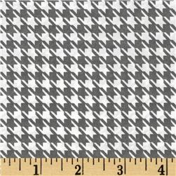 Julianna Stretch Chiffon Houndstooth Grey