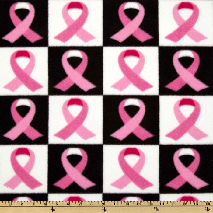 Winterfleece Ribbon Checkers Pink