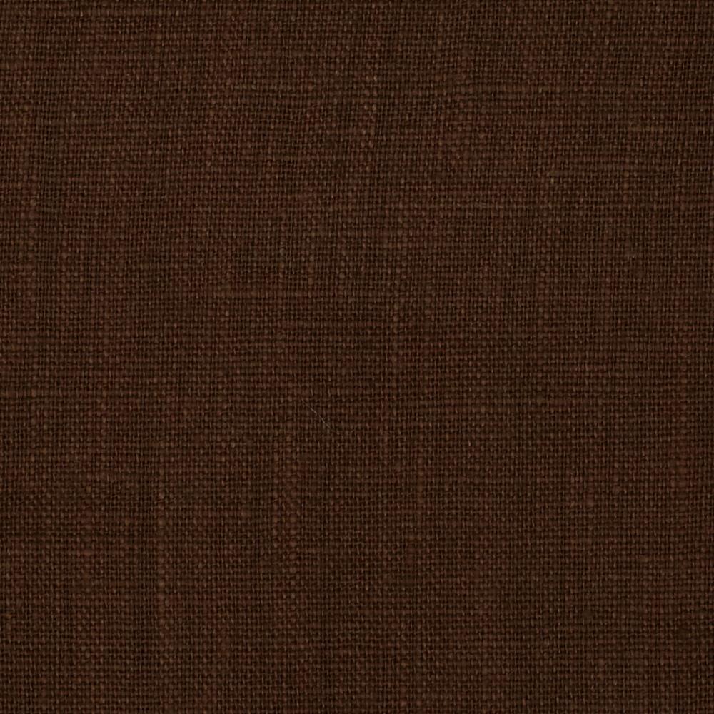 European 100% Washed Linen Chestnut