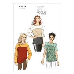 Vogue Misses' Top Pattern V8877 Size 0Y0