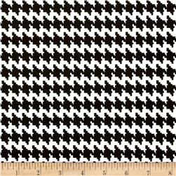 Cotton Twill Houndstooth Black White