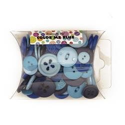 Dress It Up Color Me Collection Pillow Pack Buttons Blue