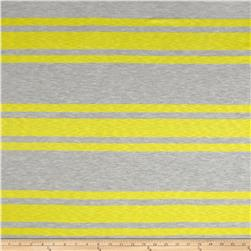 Designer Yarn Dyed Jersey Knit Stripe Grey/Yellow
